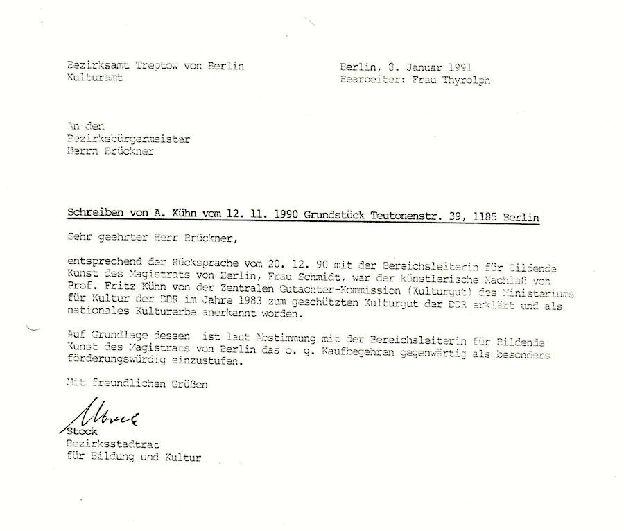 Das Werk von Fritz Kühn wurde 1983 zum Nationalen Kulturerbe anerkannt | Foto: Fritz Kuehn Gesellschaft e.V