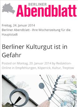Fritz Kühn im Berliner Abendblatt | Screenshot Berliner Abendblatt