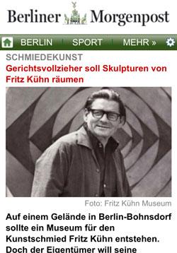 Fritz Kühn im Berliner Morgenpost | Screenshot Berliner Morgenpost