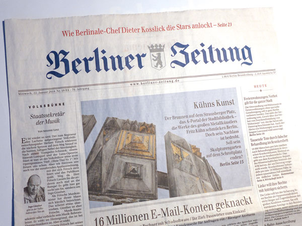 "Der Beitrag ""Kühns Kunst – Verschmähtes Erbe"" in der Berliner Zeitung"