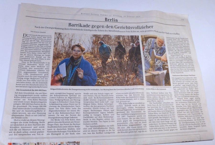 Berliner Zeitung Fritz Kühn Gesellschaft 17.02.14